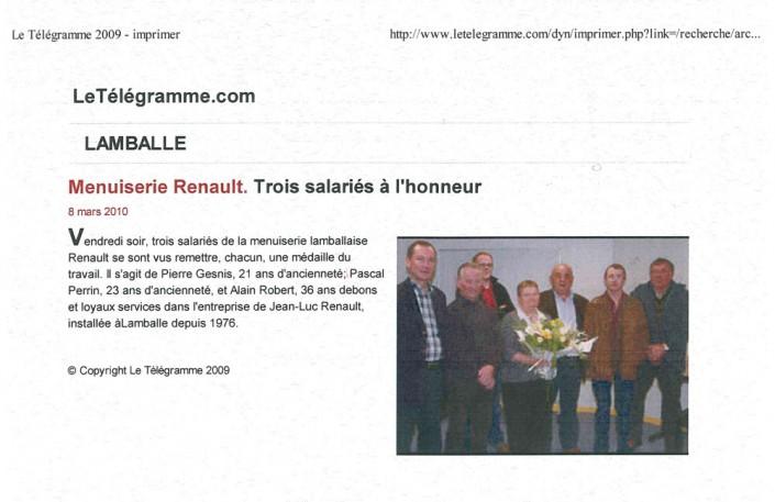 Menuiserie Renault, article, presse