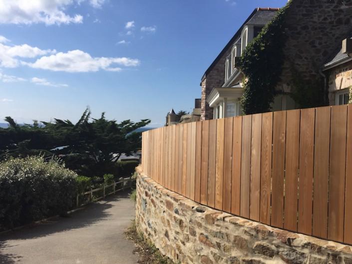 aménagement extérieur clôture