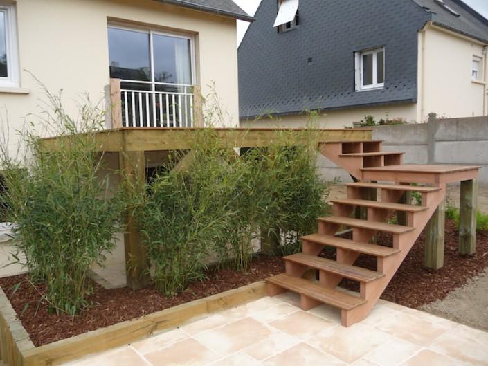 aménagement extérieur escaliers